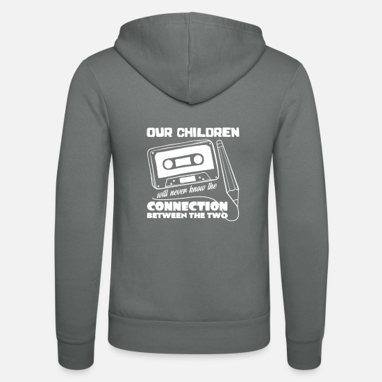 Nostalgia Hoodies & Sweatshirts - Tape - Unisex Zip Hoodie grey