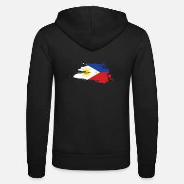 Filipino Retro Philippines flag banner shirt gift - Unisex Hooded Jacket by Bella + Canvas