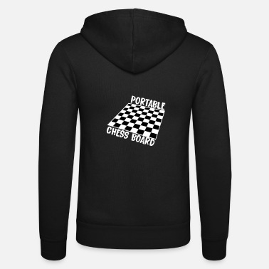 Chess Board Portable chess board gift - Unisex Hooded Jacket by Bella + Canvas