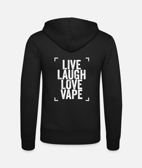 Vaping Hoodies & Sweatshirts - Vaping Vape - Unisex Zip Hoodie black