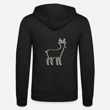 Psy-trance Psychedelic Reindeer Psy Trance Music Trippy - Unisex Hooded Jacket by Bella + Canvas