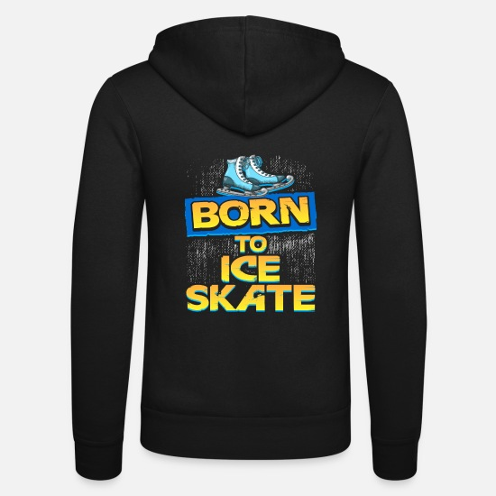 Figure Hoodies & Sweatshirts - Born to skate - Unisex Zip Hoodie black