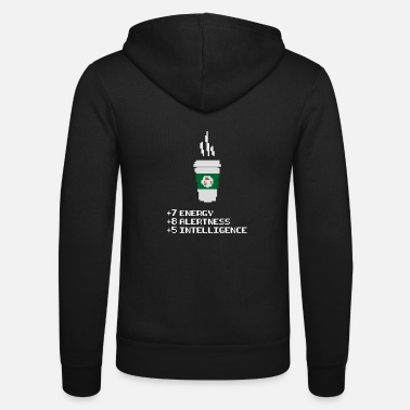 House Coffee Power Up - Unisex Hooded Jacket by Bella + Canvas