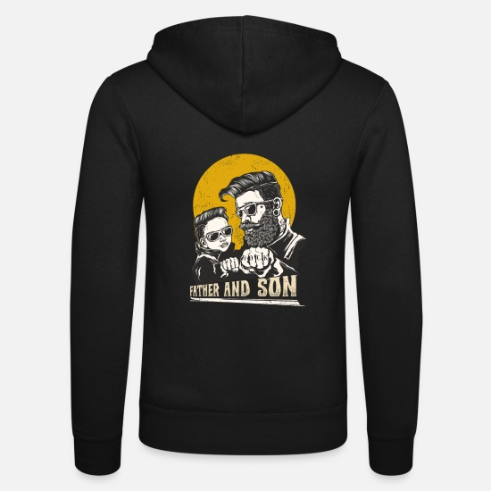 Gift Idea Hoodies & Sweatshirts - Father and son TShirt for your dad - Unisex Zip Hoodie black