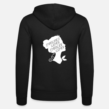 Equality Beautiful woman power & equality design - Unisex Hooded Jacket by Bella + Canvas