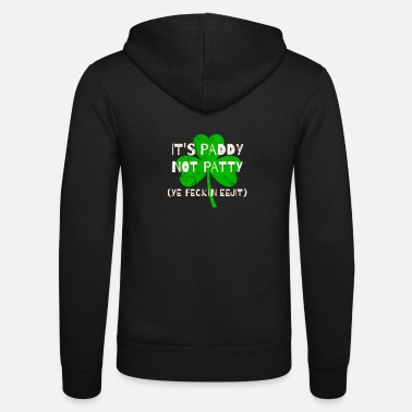 Feckin Feckin Eejit Distressed for St Paddy's Day - Unisex Zip Hoodie
