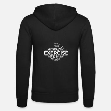 Exercise Exercise - Unisex Hooded Jacket by Bella + Canvas