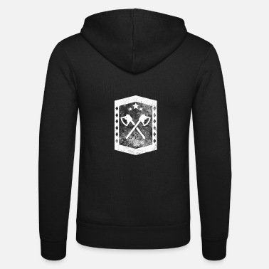 Awesome Viking Axes Cool Historic Weapons - Unisex Hooded Jacket by Bella + Canvas
