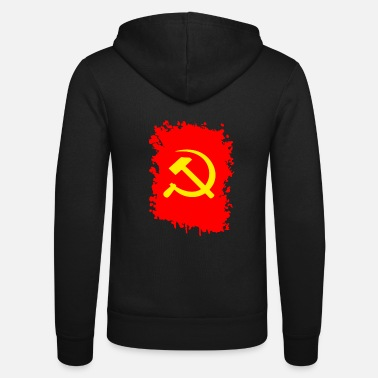 soviet flag t shirt russia coat of arms sovjetunion - Unisex Zip Hoodie