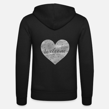 Birth Hello Welcome to the world birth baby gift - Unisex Zip Hoodie