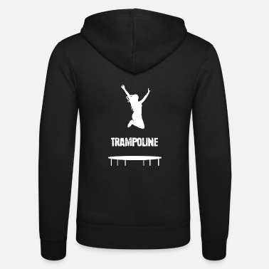 Pounce Trampoline Jumping Trampolining Sport Hobby Gift - Unisex Zip Hoodie