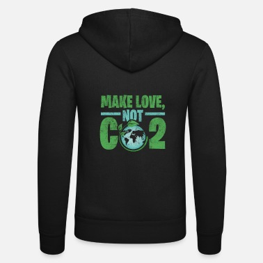 Carbon Dioxide Earth carbon dioxide gift environment - Unisex Zip Hoodie