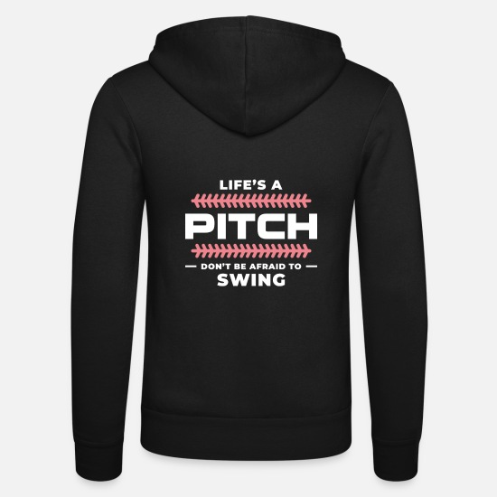 Running Hoodies & Sweatshirts - Base Baseball Bat Pitcher Home Run - Unisex Zip Hoodie black