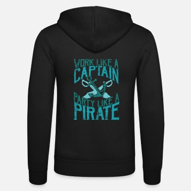 Pirate Captain Pirate - Unisex Zip Hoodie