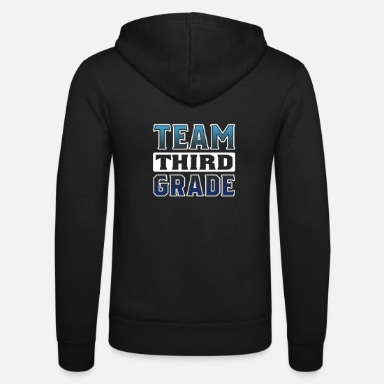 Cutie Hoodies & Sweatshirts - Back to School Team Third Grade T-Shirt for kids n - Unisex Zip Hoodie black