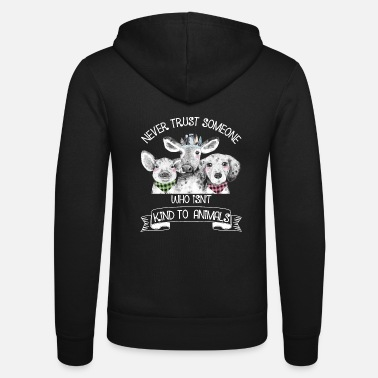 Animal Animal rights activist vegan vegetarian animal lover animal - Unisex Zip Hoodie