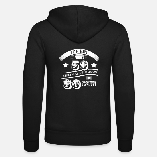 Birthday Hoodies & Sweatshirts - 50th birthday funny - Unisex Zip Hoodie black