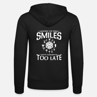 W20 DND D & D Larp RPG DM Smiles Laugh D20 Dice - Unisex Zip Hoodie