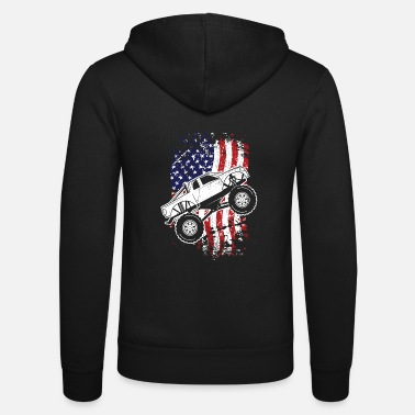 Monster Truck Roar Monster Truck Car Crusher Gift Design Idea - Unisex Zip Hoodie