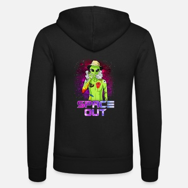 Smoking Space Out Hipster Alien Smoking & Spacing Out UFO - Unisex Zip Hoodie