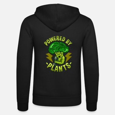 Vegan Plant T-Shirt Broccoli Power Healthy green - Zip hoodie unisex