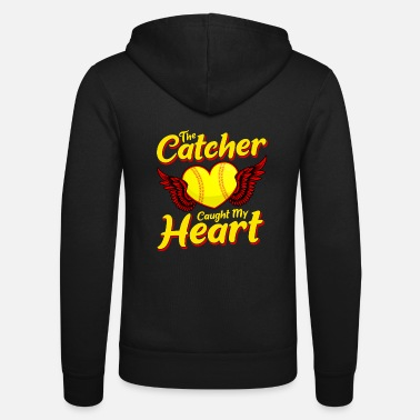 Softball Cute The Catcher Catturato il mio cuore Baseball Softball - Felpa con zip unisex