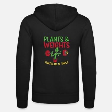 Vegan bodybuilding fitness plant workout - Unisex Zip Hoodie