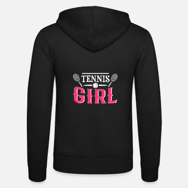 Pointing Tennis shirt - tennis player - tennis tshirt - Unisex Zip Hoodie