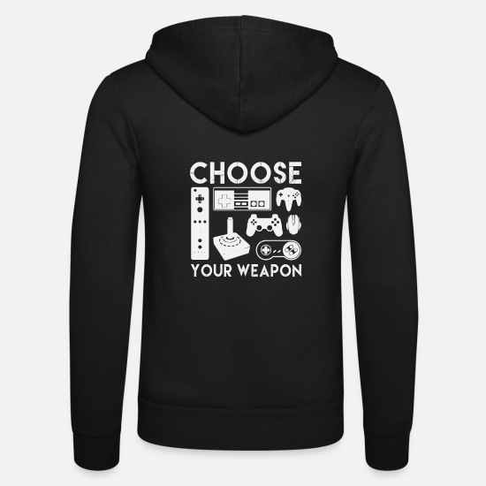 Gift Idea Hoodies & Sweatshirts - Gamer Shirt - Funny Nerd - Unisex Zip Hoodie black
