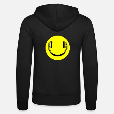 House Smilie headphones emoticon music lovers - Unisex Zip Hoodie