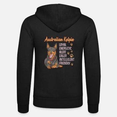 Alert Cute Australian Kelpie Loyal & Friendly Dog - Unisex Zip Hoodie