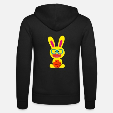 Bunny Tooth A tooth bunny and basketball - Unisex Zip Hoodie