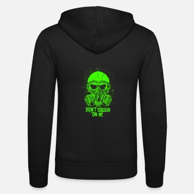 Protective Symbol Gas mask respirator disaster plague - Unisex Zip Hoodie