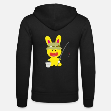 Bunny Tooth A tooth bunny fisherman fishing - Unisex Zip Hoodie