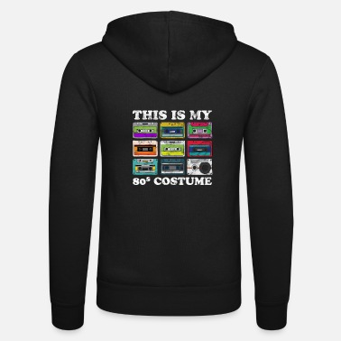 Cassette 80s Costume Retro Party Cassette - Unisex Zip Hoodie