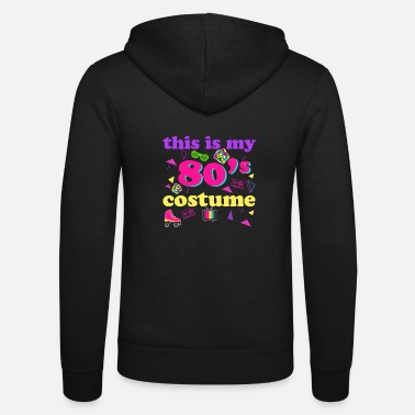 Tape 80s costume Retro eighties throwback party outfit - Unisex Zip Hoodie