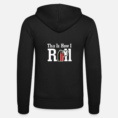 Painter This is how I roll I Maler Rolle Farbe - Unisex Zip Hoodie