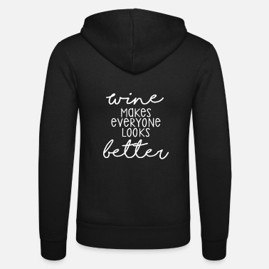 Red Wine Wine love, wine tasting, drinking wine - Unisex Zip Hoodie