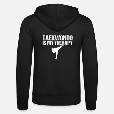 Tae Kwon Do Taekwondo is mijn therapie - Unisex zip hoodie