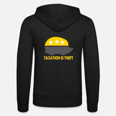 Political Issues Libertarian Porcupine Taxation Is Theft Anti Gover - Unisex Zip Hoodie