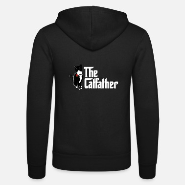 Mens Vintage The Catfather T Shirt Funny Cat Lover - Unisex Zip Hoodie