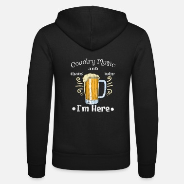 Country Country Music Beer Beer Glass Drink Irish Pub Bar - Unisex Zip Hoodie