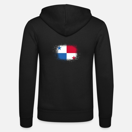 Birthday Hoodies & Sweatshirts - Spray logo claw flag home Panama png - Unisex Zip Hoodie black