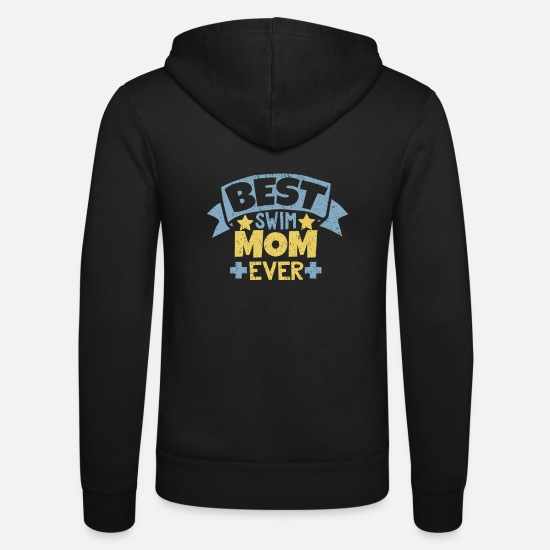 Stadium Hoodies & Sweatshirts - Best Swim Mom Ever T-Shirt - Unisex Zip Hoodie black