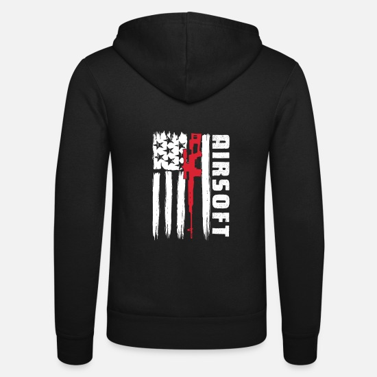 Airsoft Sudaderas - American Airsoft y Airsoft Sports - Chaqueta con capucha unisex negro