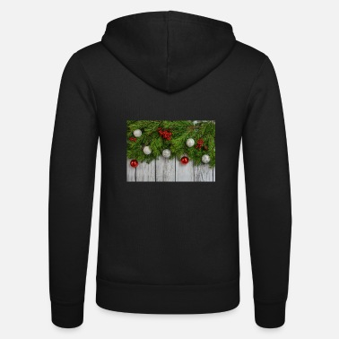 Fir takken Christmas Christmas Advent deco - Unisex zip hoodie