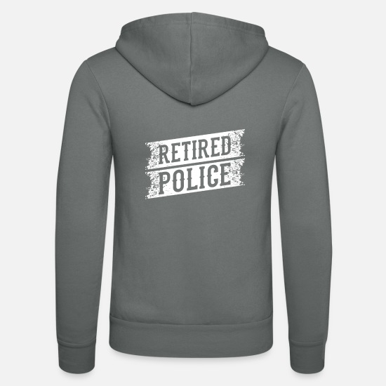 Right Hoodies & Sweatshirts - police - Unisex Zip Hoodie grey