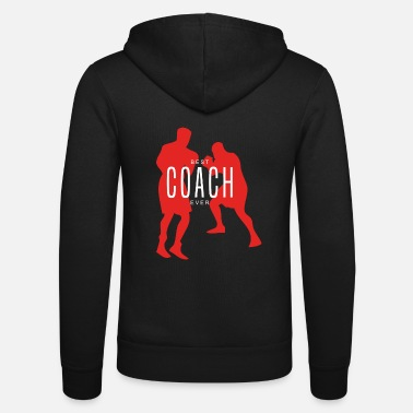 Boxing Best Boxing Coach Ever Boxer Gift - Unisex Zip Hoodie