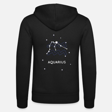 Horoscope Verseau Aquarius signe de constellation horoscope - Veste à capuche unisexe