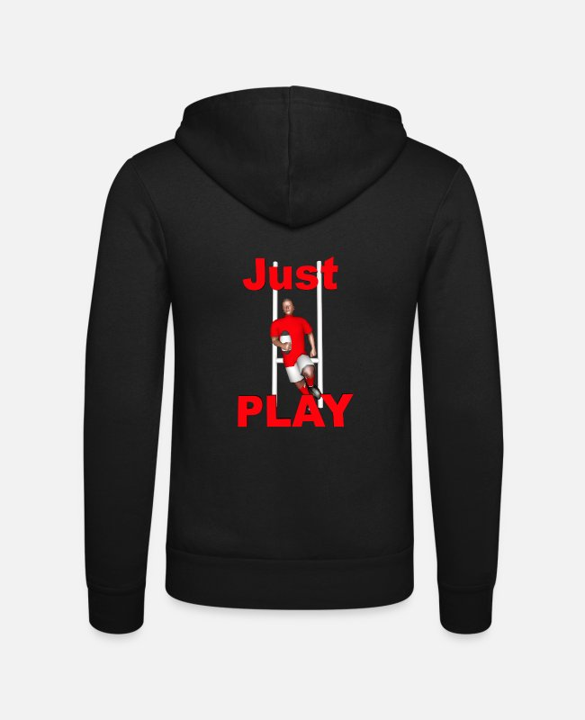 Lyon Rugby Toulousain Hoodies & Sweatshirts - RUGBY Just Play - Unisex Zip Hoodie black